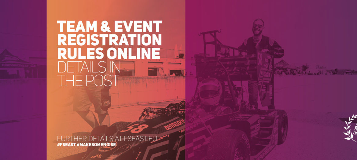 FS EAST 2018 - Registration rules online