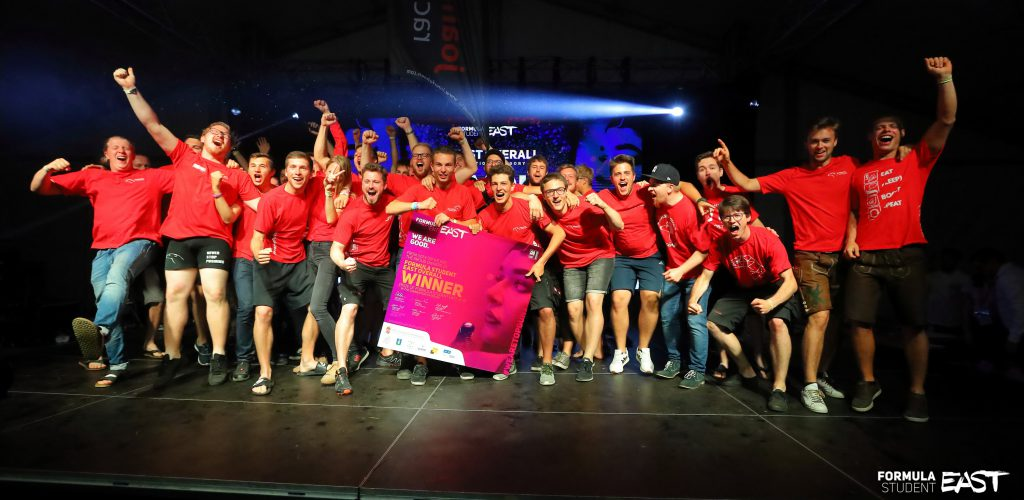 Formula Student East 2019 Overall - Combustion category WINNER: Joanneum Racing Graz