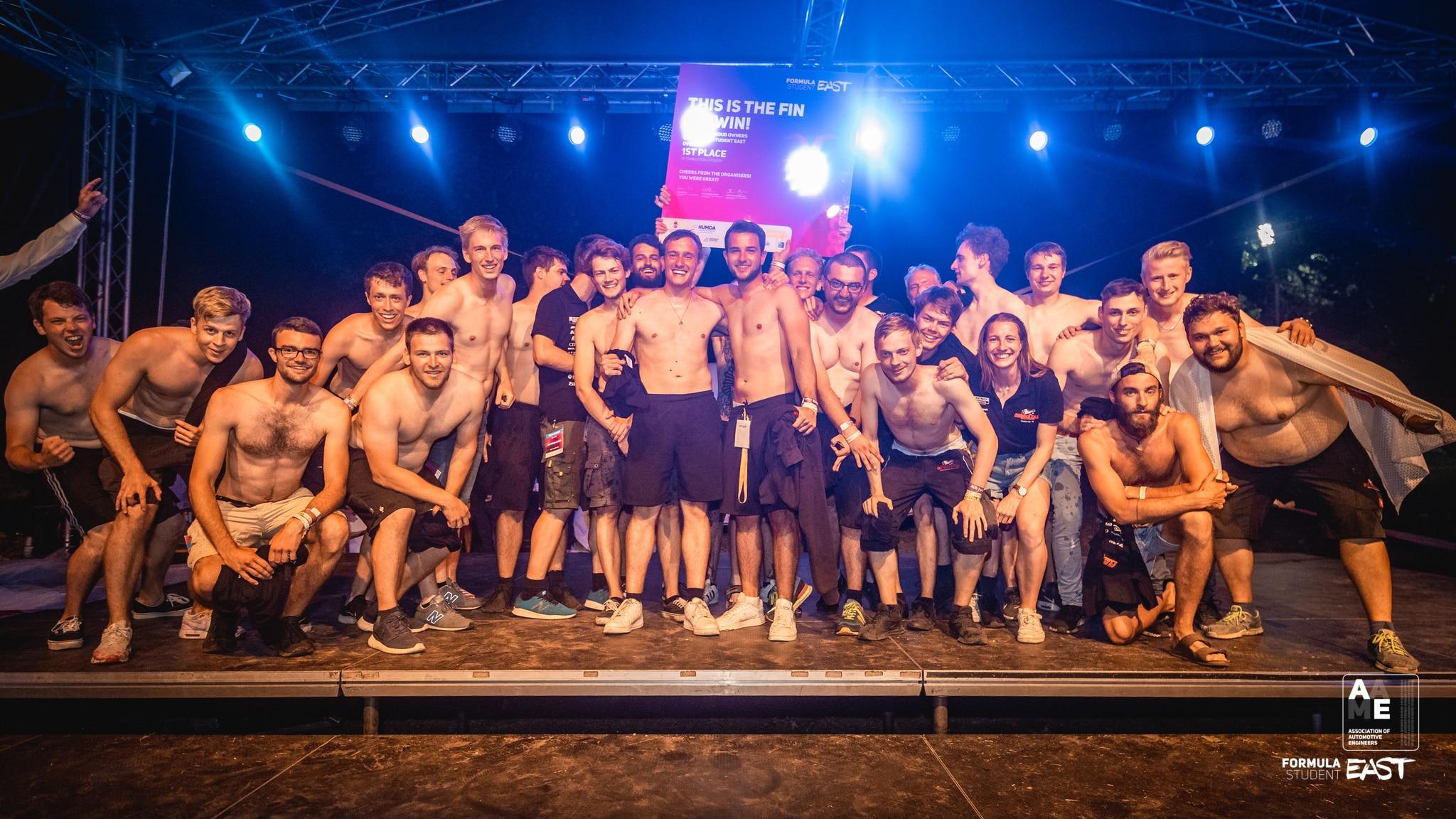 Formula Student East 2021 Overall - Combustion category WINNER: Rennstall Esslingen