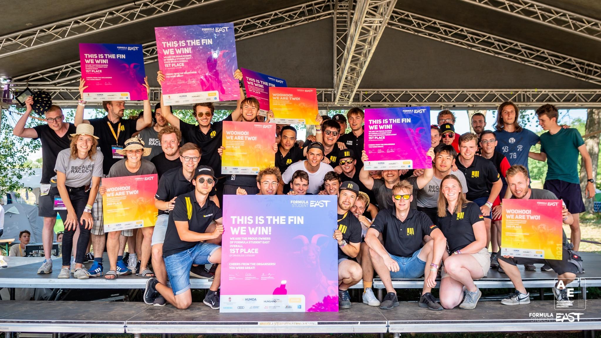 Formula Student East 2021 Overall - Driverless category WINNER: KA-RaceIng Driverless