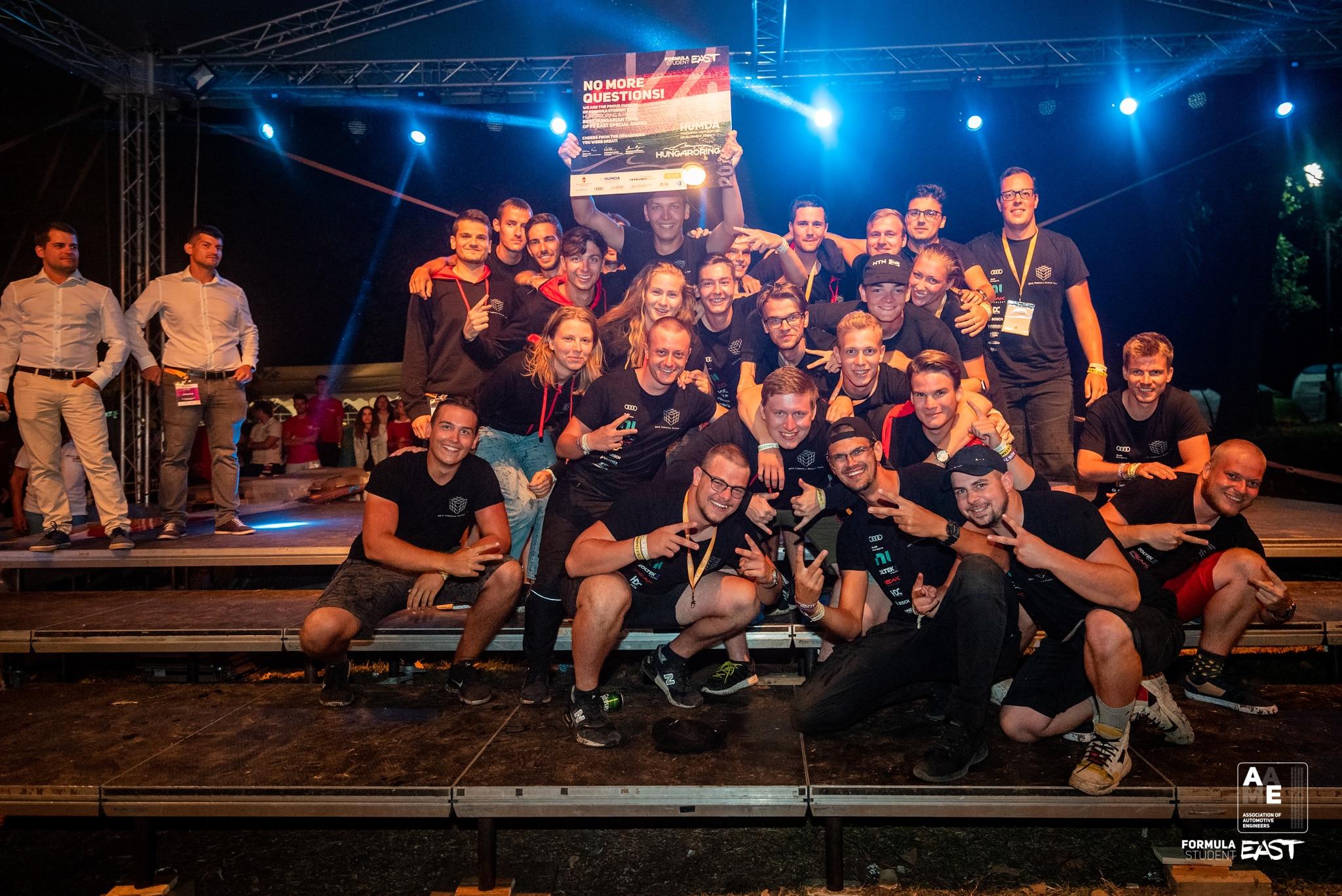 Hungaroring & HUMDA - Best Hungarian Team of FS East Special Award WINNER: BME Formula Racing Team